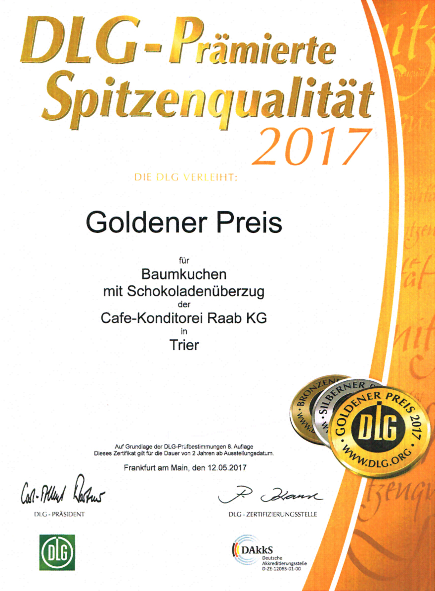 DLG-Prämierte Spitzenqualität 2017 - Goldener Preis