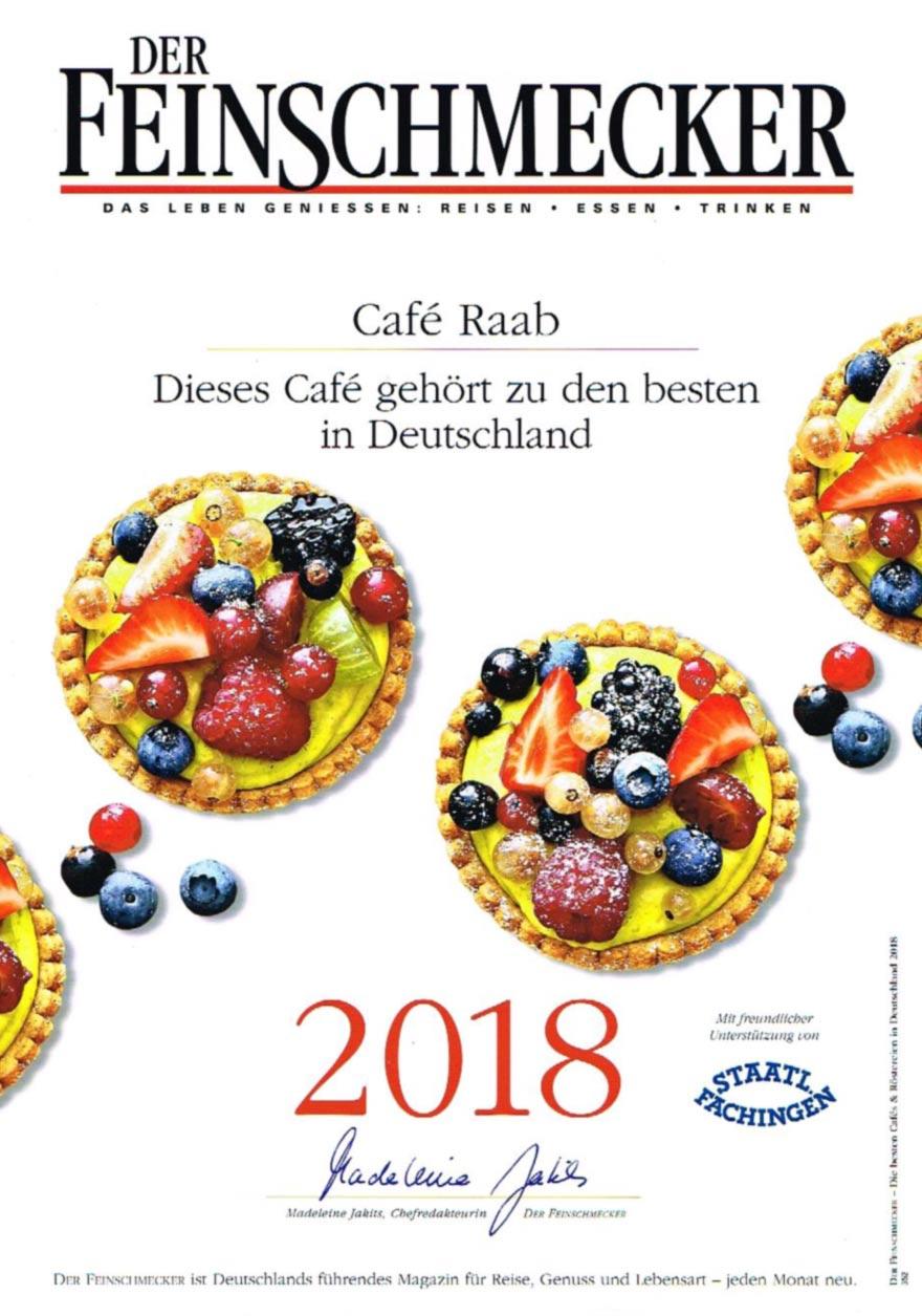 Der Feinschmecker 2018, Café Raab - Dieses Café gehört zu den besten in Deutschland